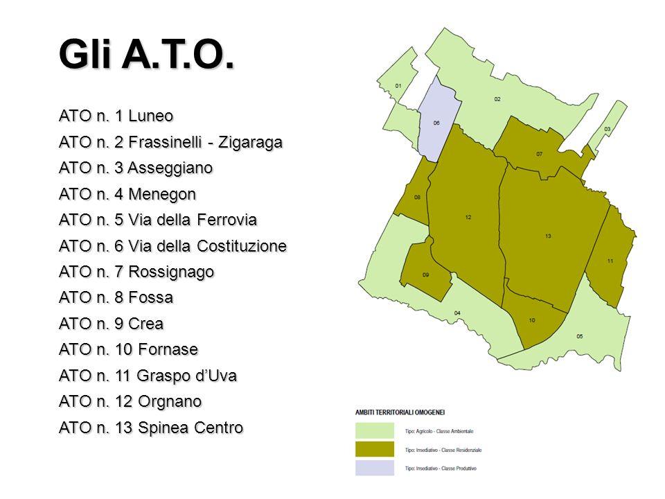 Gli A.T.O. ATO n. 1 Luneo ATO n. 2 Frassinelli - Zigaraga ATO n.