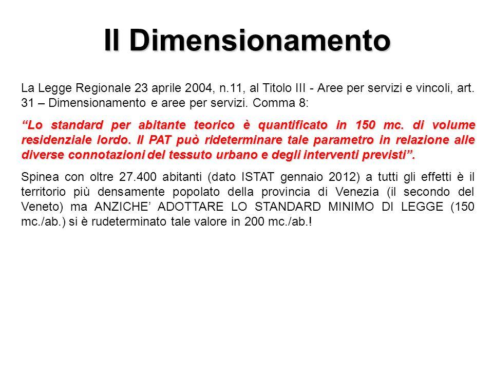 La Legge Regionale 23 aprile 2004, n.11, al Titolo III - Aree per servizi e vincoli, art.