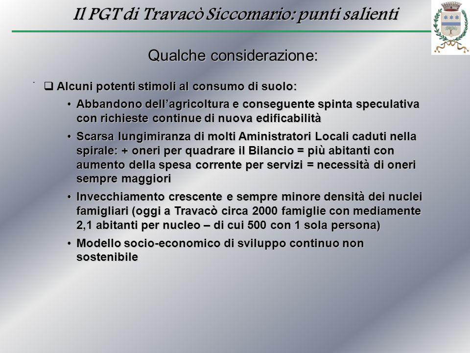 Il PGT di Travacò Siccomario: punti salienti. Qualche considerazione: Alcuni potenti stimoli al consumo di suolo: Alcuni potenti stimoli al consumo di