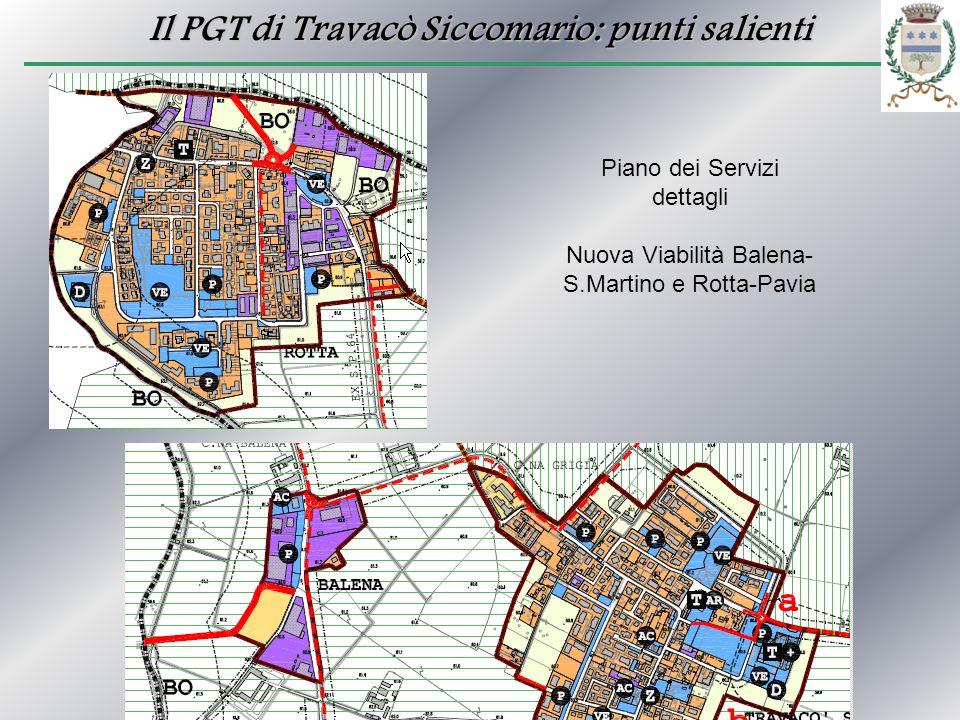 Il PGT di Travacò Siccomario: punti salienti Piano dei Servizi dettagli Nuova Viabilità Balena- S.Martino e Rotta-Pavia
