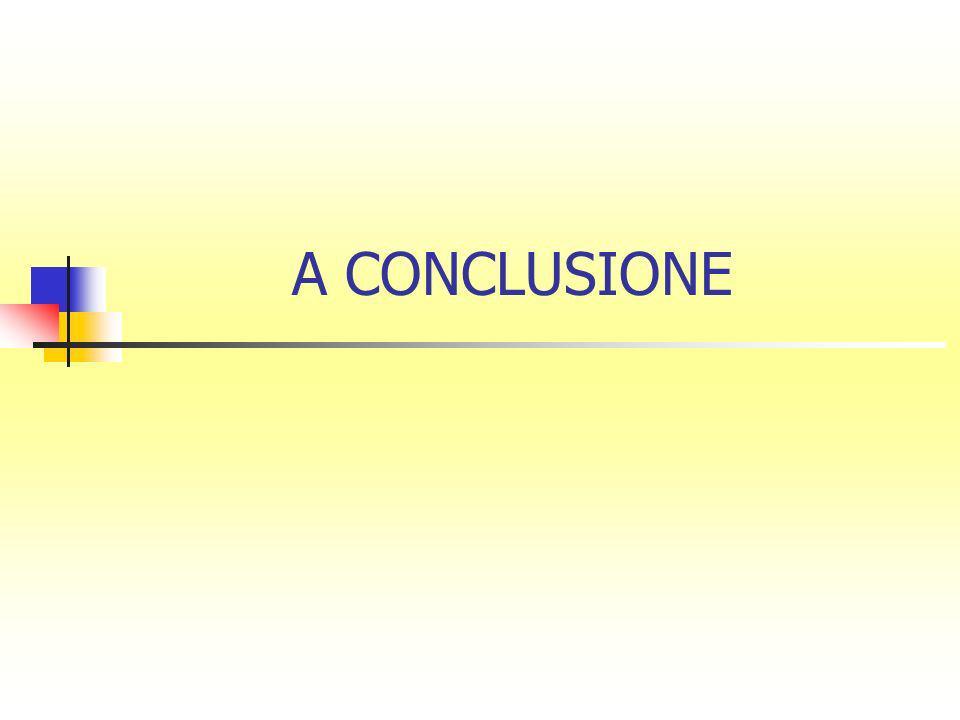 A CONCLUSIONE