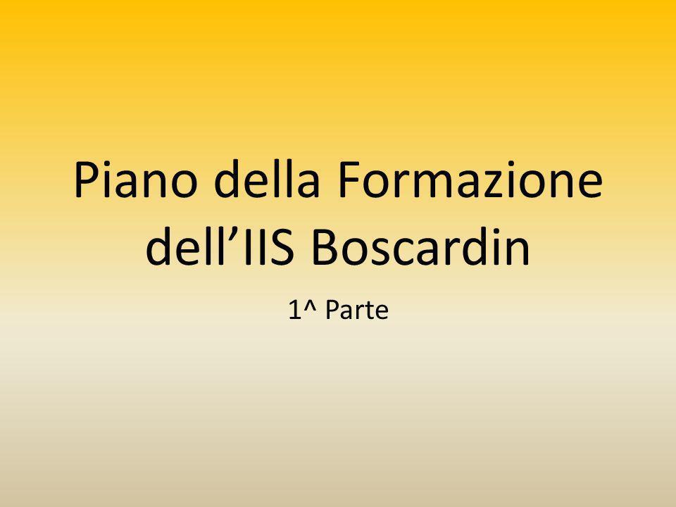 Piano della Formazione dellIIS Boscardin 1^ Parte