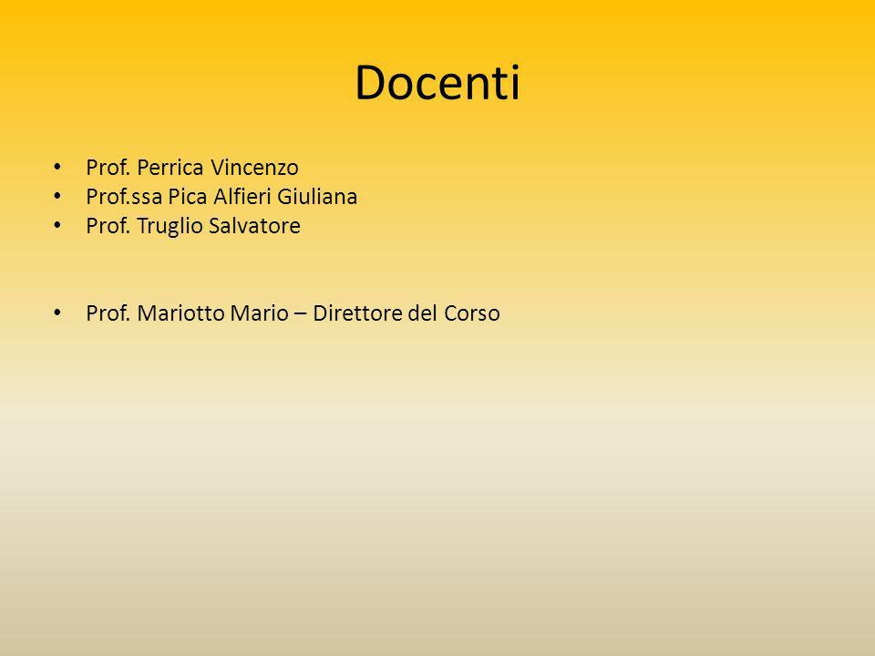 Docenti Prof. Perrica Vincenzo Prof.ssa Pica Alfieri Giuliana Prof.