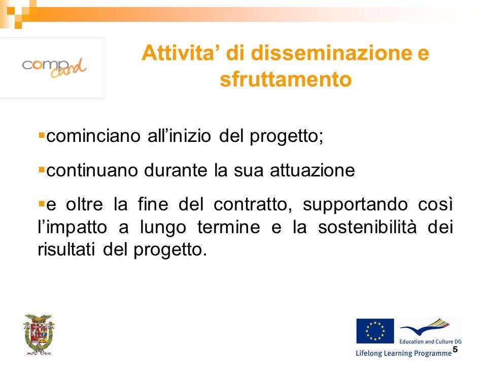 16 Piani di azione di disseminazione TEMPISTICASCOPOPUBBLICOMETODI/ ATTIVITA COSTIRESPONSABILITAMISURE Quando disseminare.