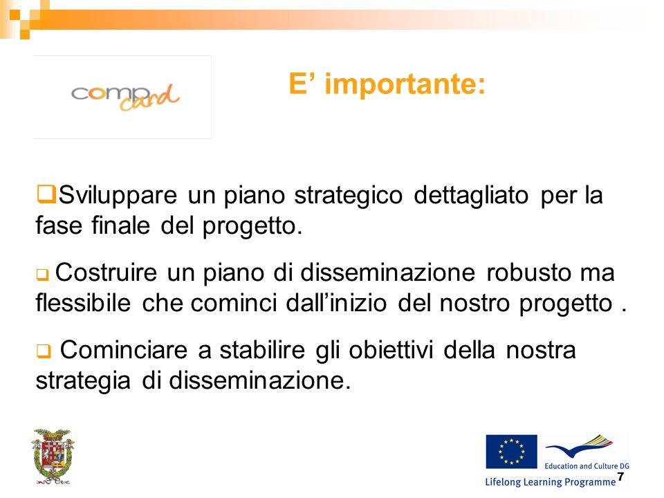 7 E importante: Sviluppare un piano strategico dettagliato per la fase finale del progetto.