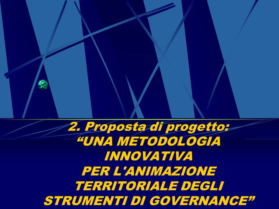 2. Proposta di progetto: UNA METODOLOGIA INNOVATIVA PER L'ANIMAZIONE TERRITORIALE DEGLI STRUMENTI DI GOVERNANCE