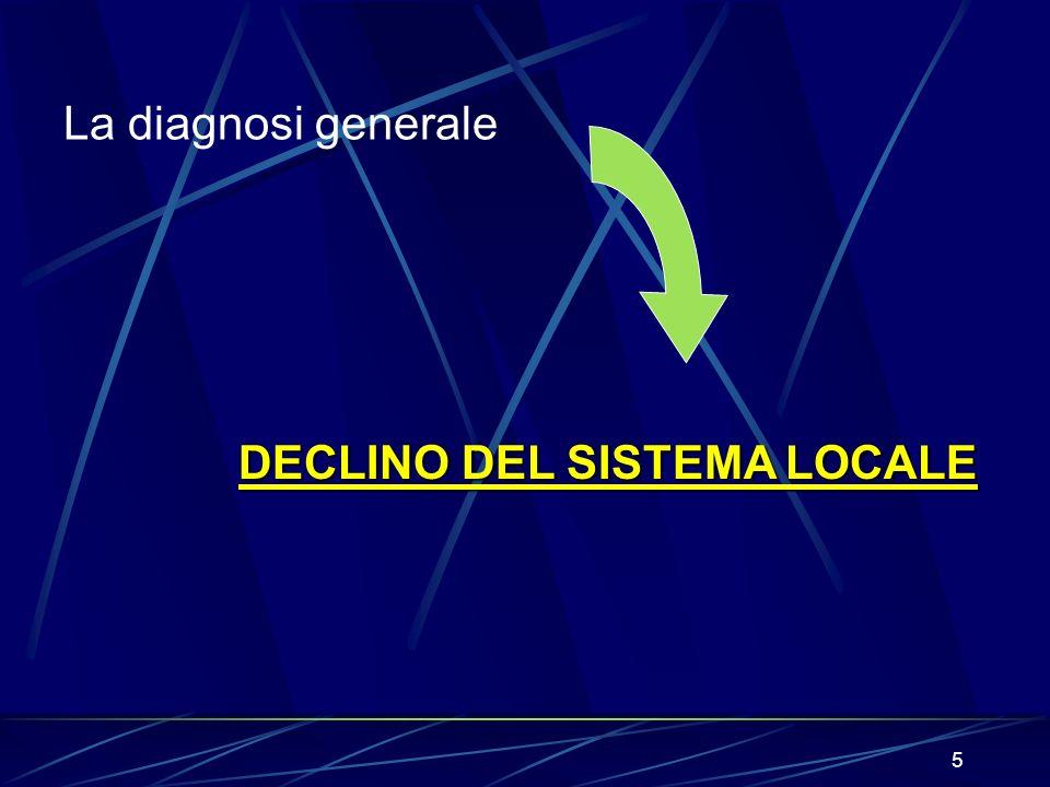 5 DECLINO DEL SISTEMA LOCALE La diagnosi generale