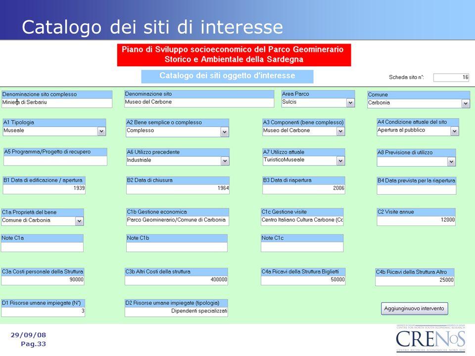 Catalogo dei siti di interesse 29/09/08 Pag.33