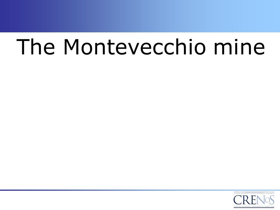 The Montevecchio mine
