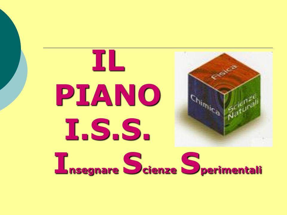 IL PIANO I.S.S. I nsegnare S cienze S perimentali