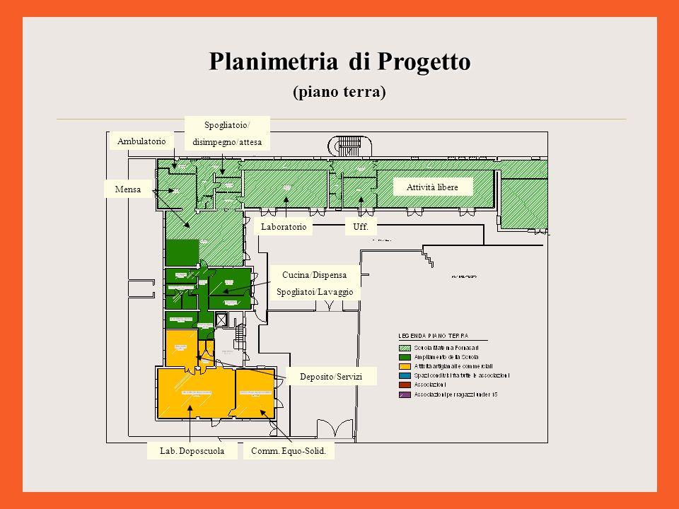 Planimetria di Progetto (piano primo) Sala polif.(att.