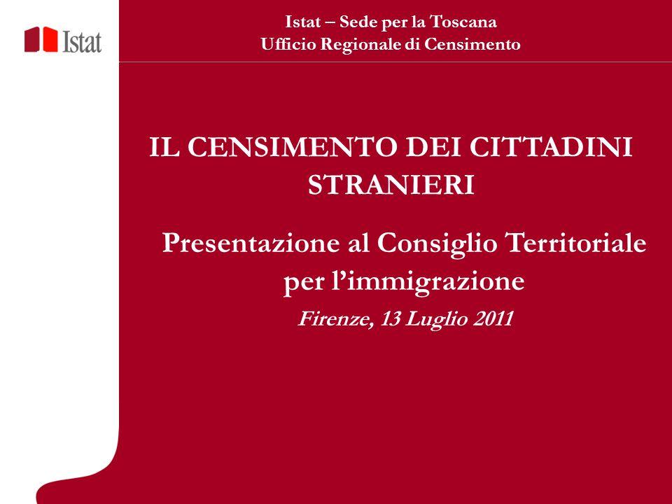 32 Informazioni per approfondimenti sugli stranieri di prima e seconda generazione LISTA A: luogo di nascita (se Italia o Estero) e cittadinanza (se italiana o straniera).