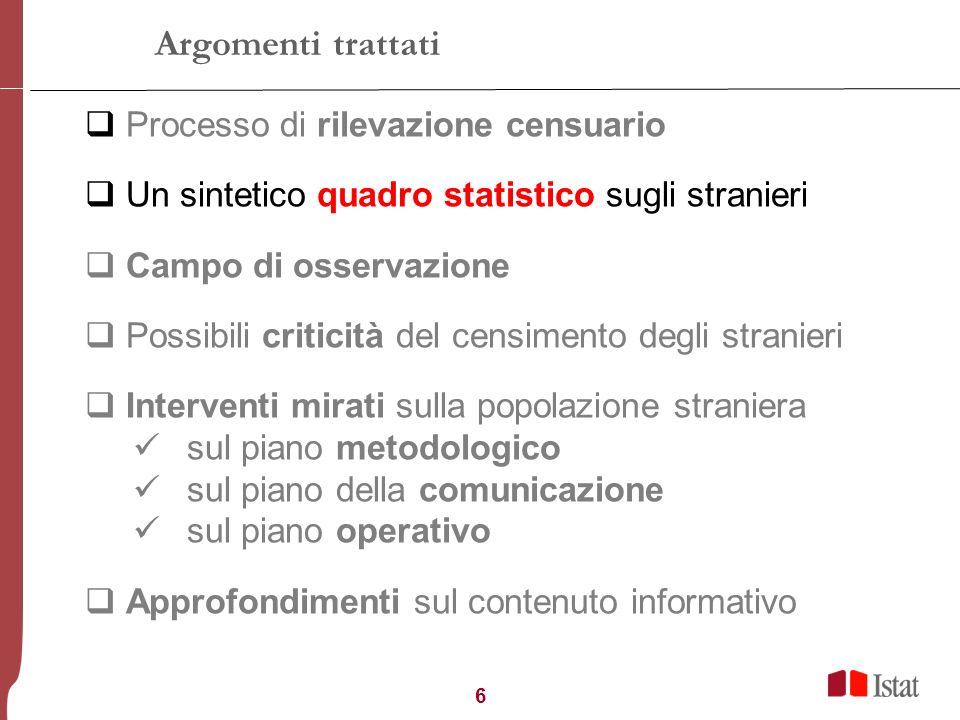 7 Lammontare degli stranieri in Toscana