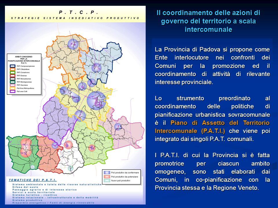 La Provincia di Padova si propone come Ente interlocutore nei confronti dei Comuni per la promozione ed il coordinamento di attività di rilevante inte