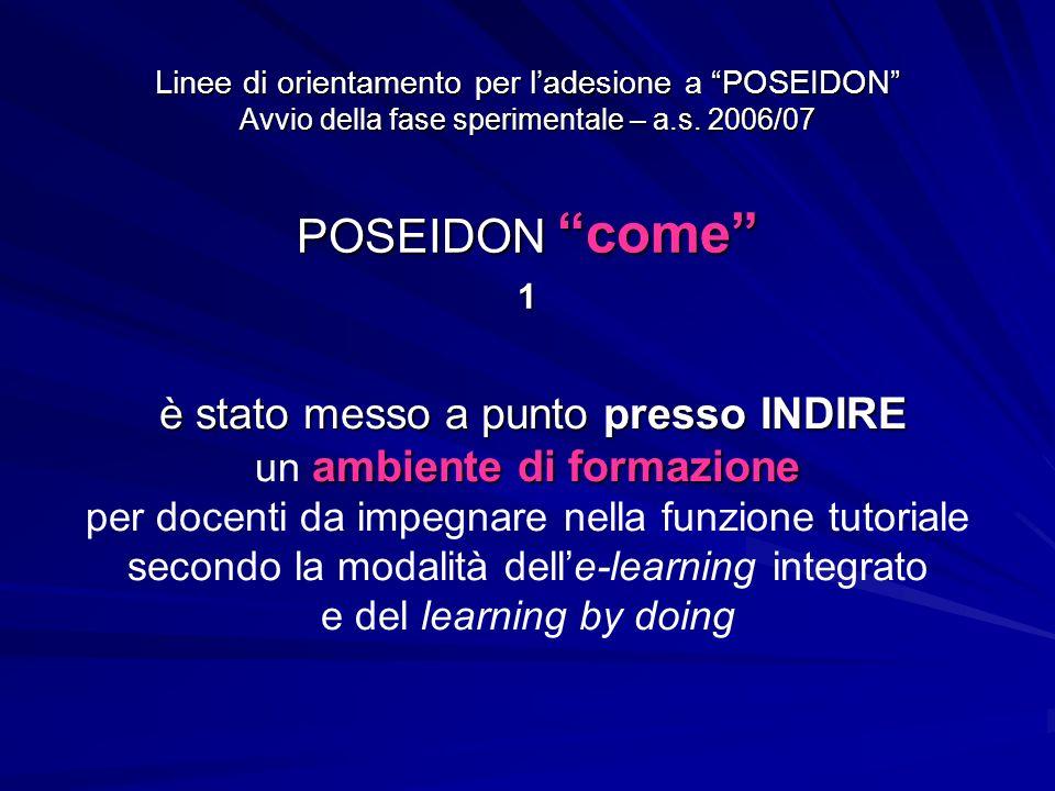 Linee di orientamento per ladesione a POSEIDON Avvio della fase sperimentale – a.s.
