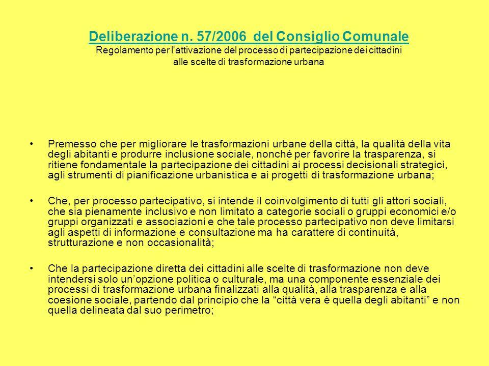 Deliberazione n. 57/2006 del Consiglio Comunale Deliberazione n.