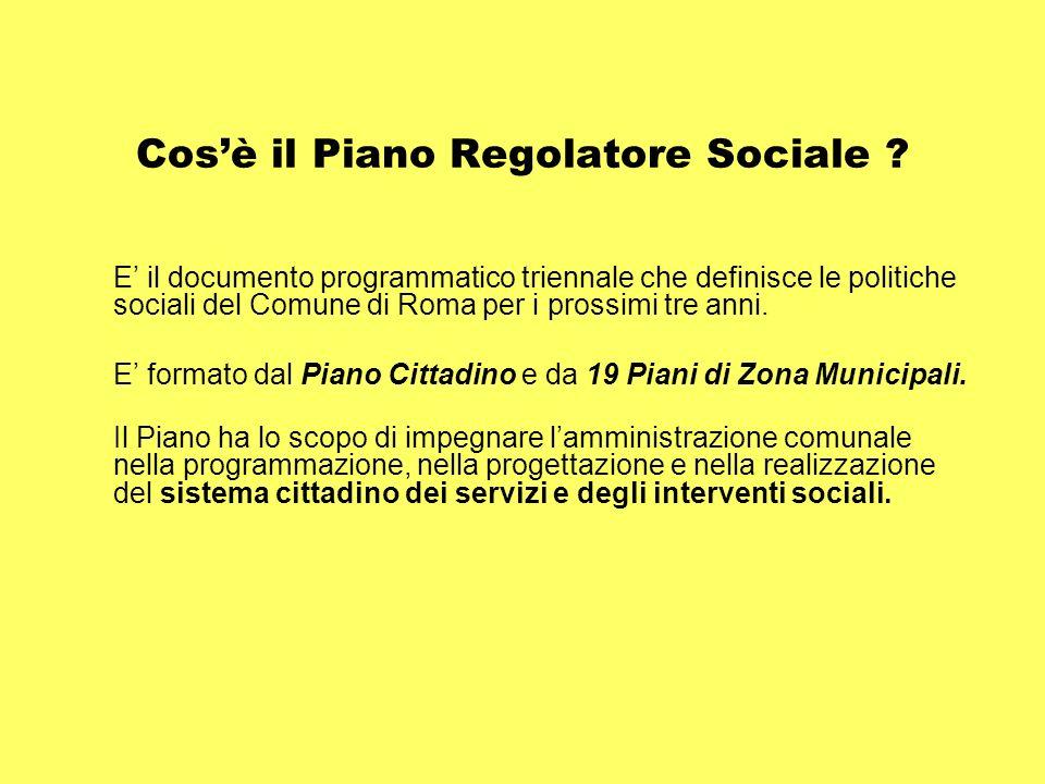 Cosè il Piano Regolatore Sociale .