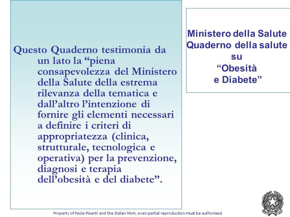 Questo Quaderno testimonia da un lato la piena consapevolezza del Ministero della Salute della estrema rilevanza della tematica e dallaltro lintenzion