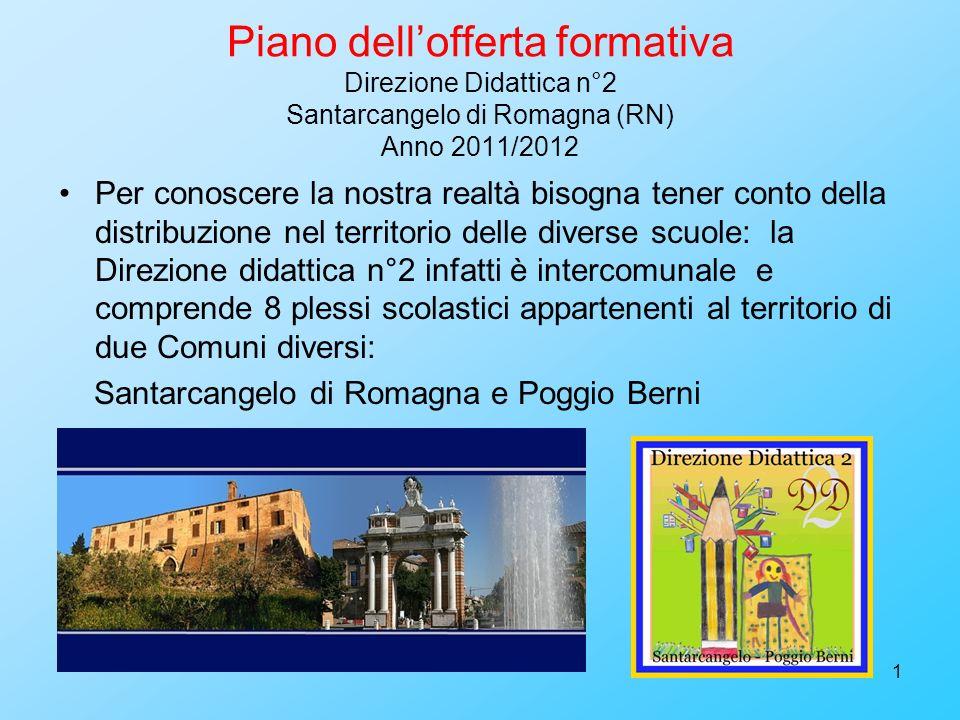 1 Piano dellofferta formativa Direzione Didattica n°2 Santarcangelo di Romagna (RN) Anno 2011/2012 Per conoscere la nostra realtà bisogna tener conto