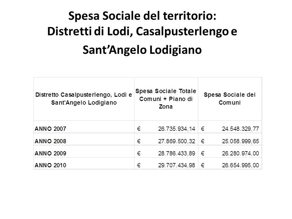 Spesa Sociale del territorio: Distretti di Lodi, Casalpusterlengo e SantAngelo Lodigiano