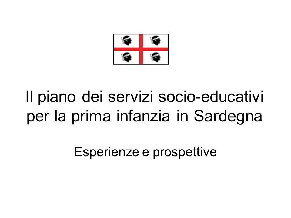 Il piano dei servizi socio-educativi per la prima infanzia in Sardegna Esperienze e prospettive