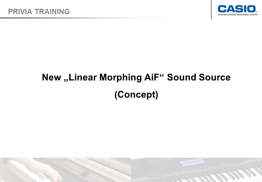 New Linear Morphing AiF Sound Source (Concept) PRIVIA TRAINING