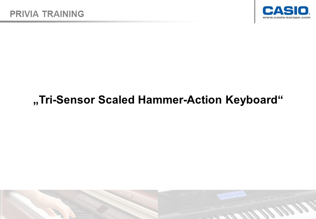 Tri-Sensor Scaled Hammer-Action Keyboard PRIVIA TRAINING