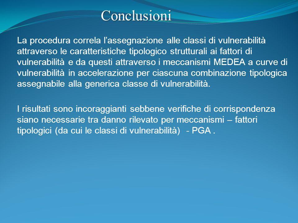 La procedura correla lassegnazione alle classi di vulnerabilità attraverso le caratteristiche tipologico strutturali ai fattori di vulnerabilità e da