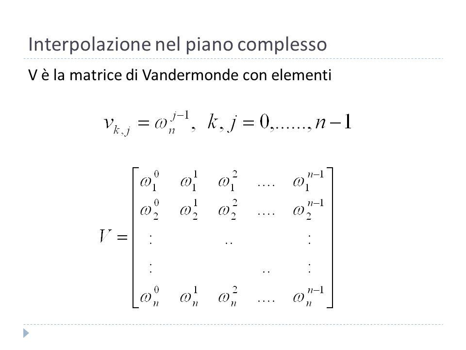 Interpolazione nel piano complesso Se n=3