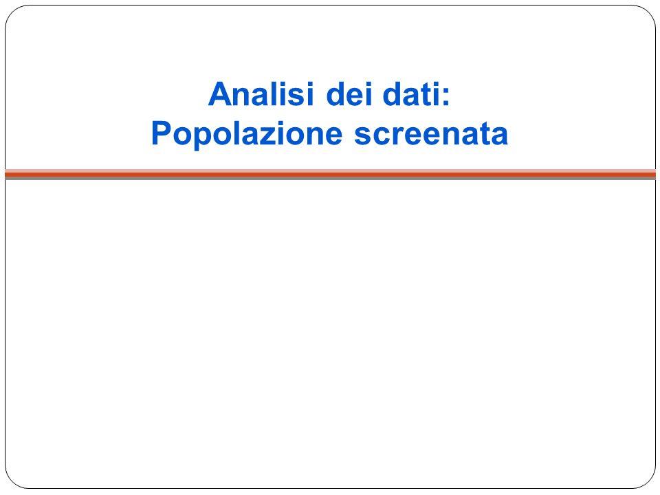 Analisi dei dati: Popolazione screenata