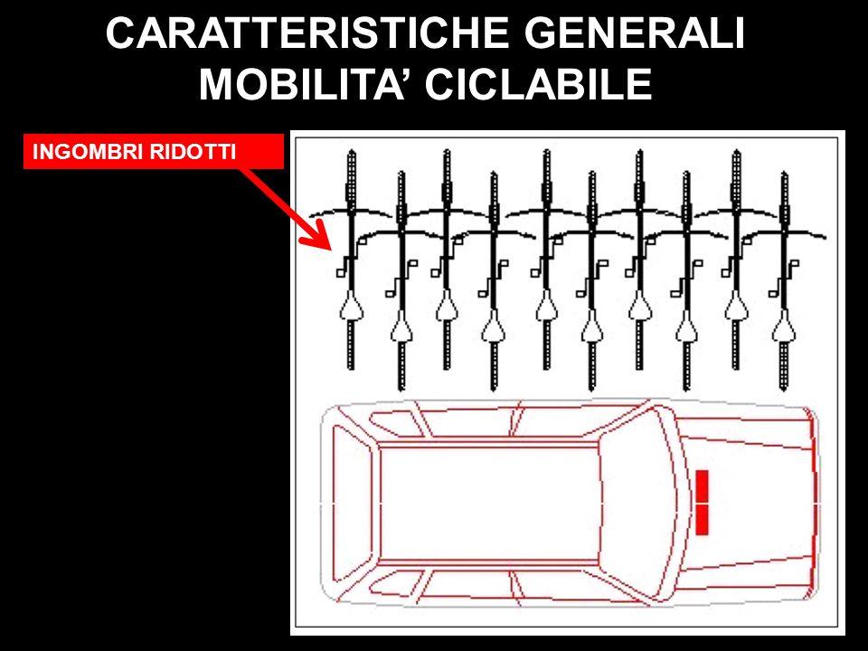 INGOMBRI RIDOTTI CARATTERISTICHE GENERALI MOBILITA CICLABILE