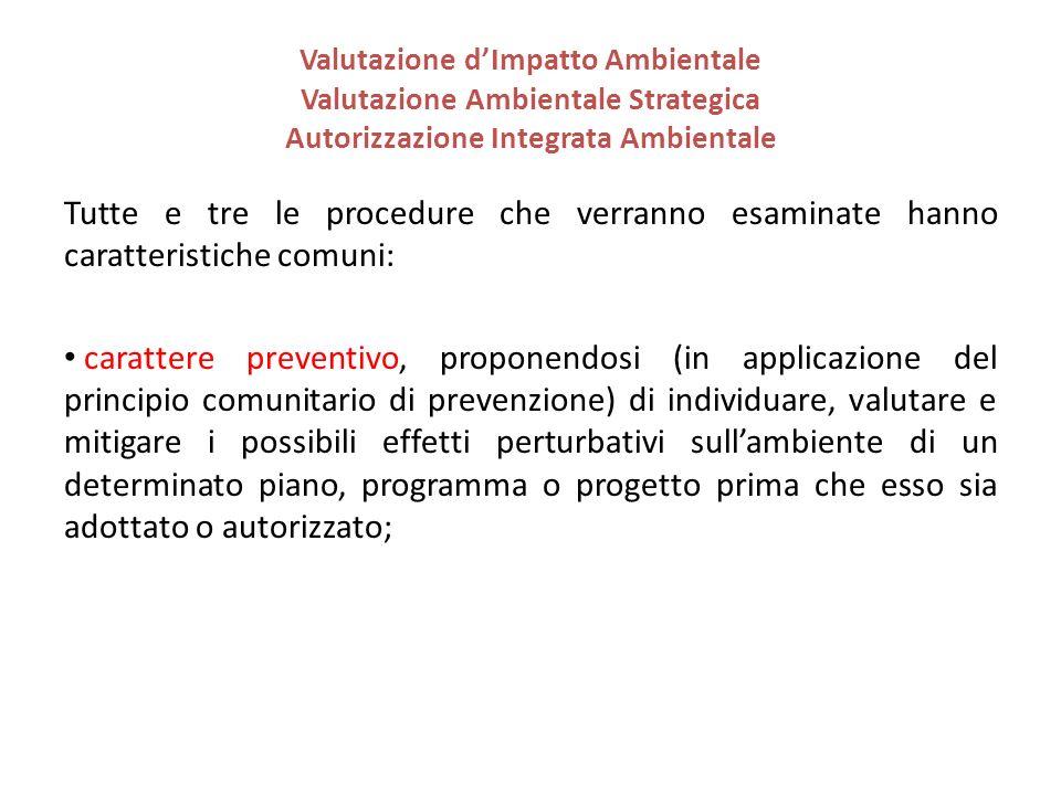 Tutte e tre le procedure che verranno esaminate hanno caratteristiche comuni: carattere preventivo, proponendosi (in applicazione del principio comuni