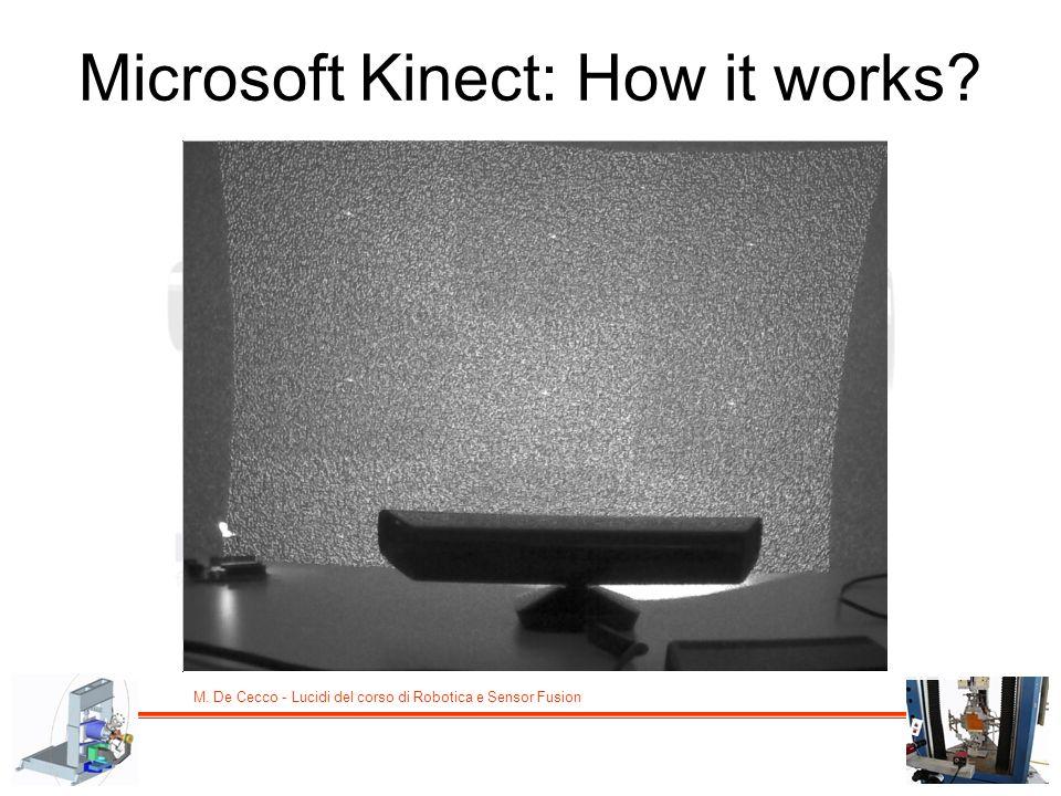 M. De Cecco - Lucidi del corso di Robotica e Sensor Fusion Microsoft Kinect: How it works?