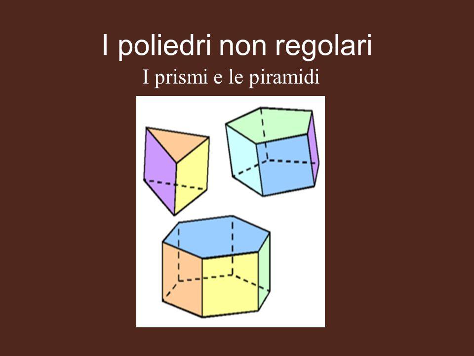 I poliedri non regolari I prismi e le piramidi