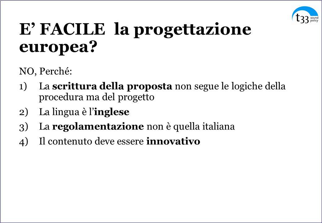 E FACILE la progettazione europea.