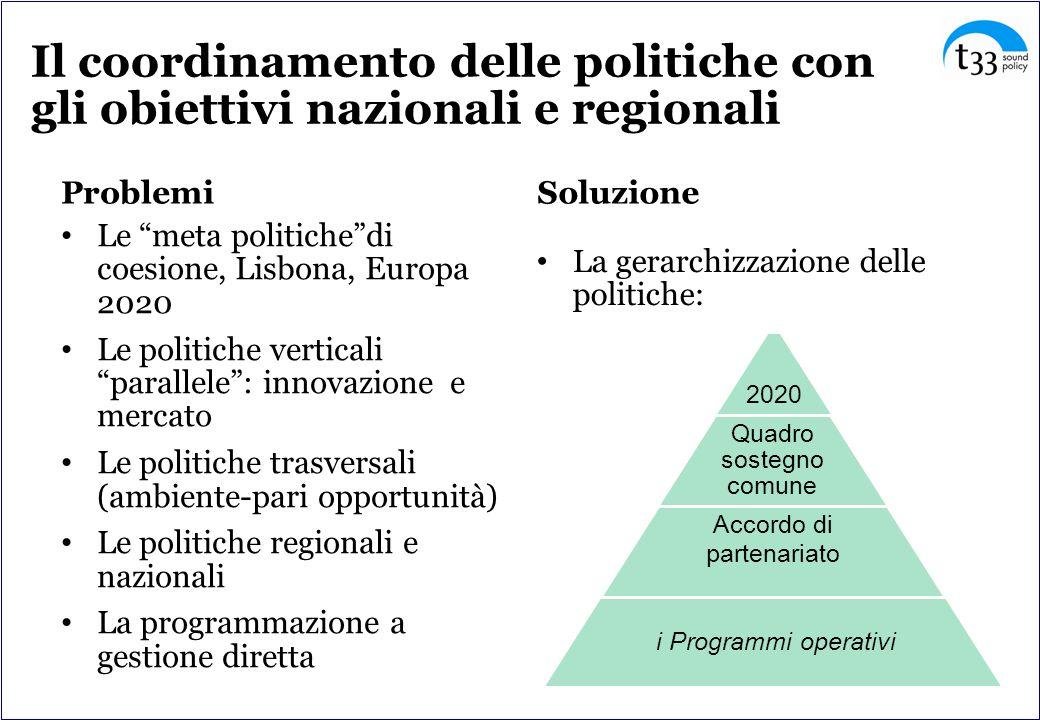 IV. Progetti regionali o europei? Unazione di sistema