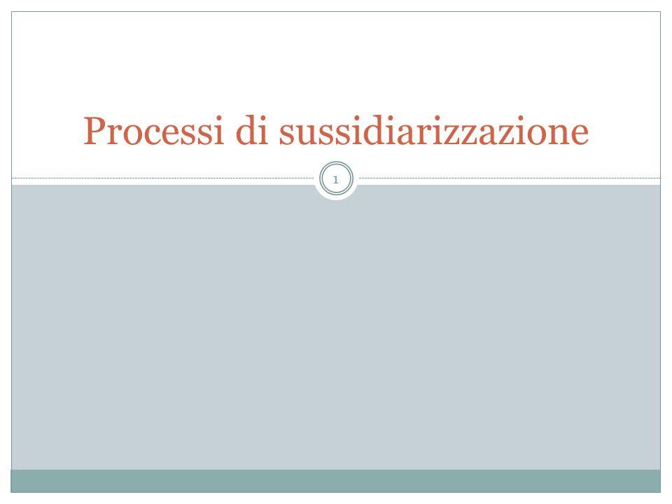 Processi di sussidiarizzazione 1