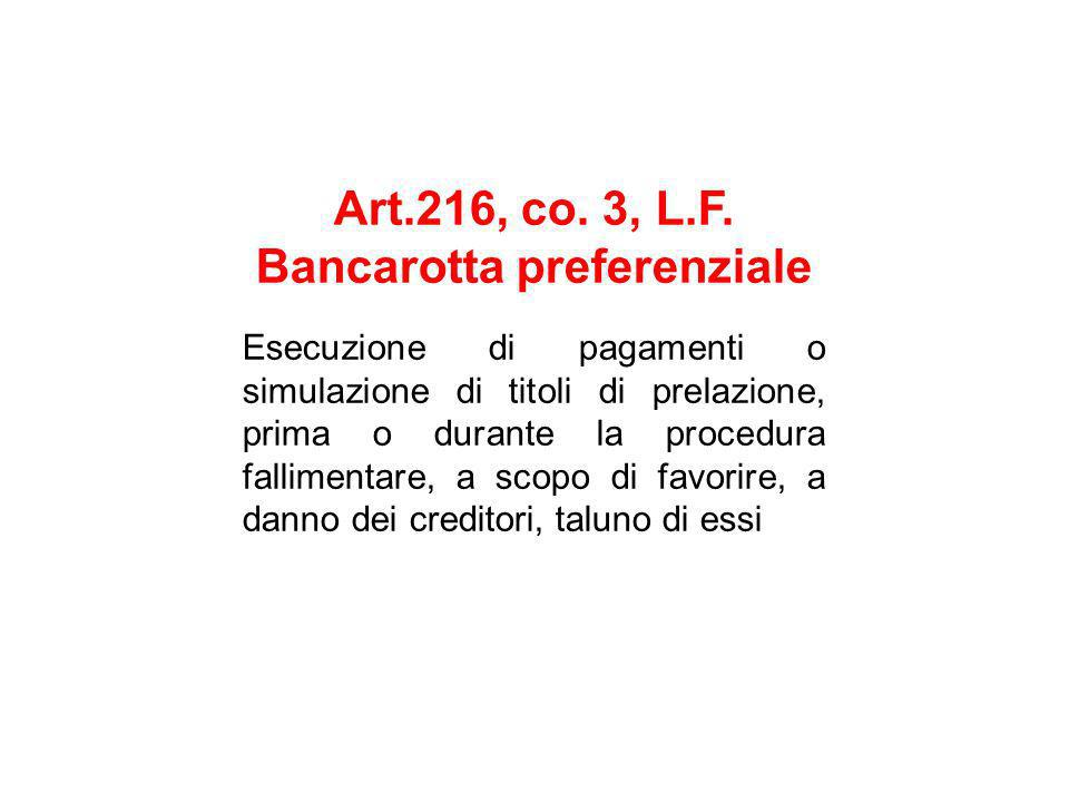 Art.216, co. 3, L.F.