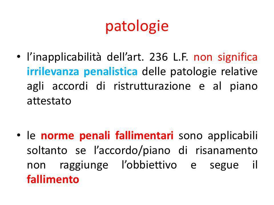 patologie linapplicabilità dellart. 236 L.F.