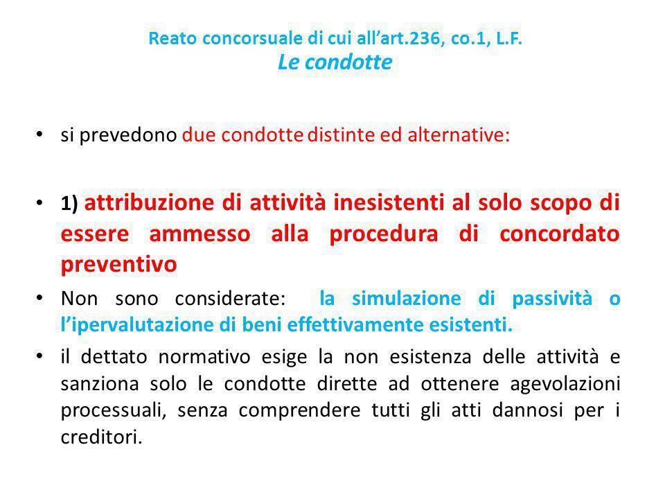 Reato concorsuale di cui allart.236, co.1, L.F.