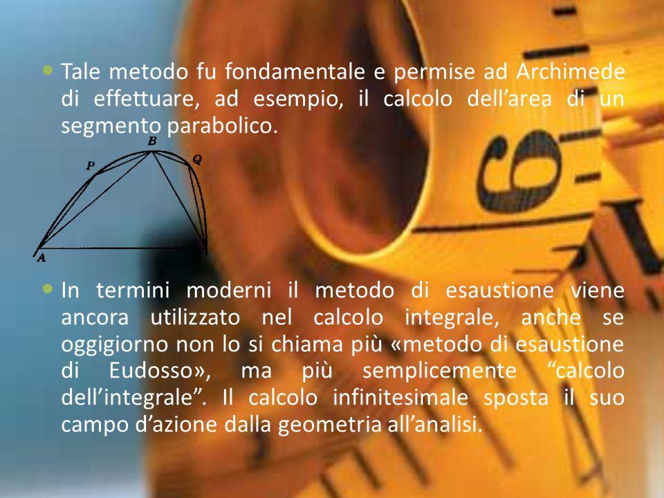 Eudosso, più di 2000 anni fa, fu il primo a sviluppare un calcolo che può definirsi, quindi, la chiave dellanalisi infinitesimale che ebbe il suo completo sviluppo solo con Sir Isaac Newton nel 1600.