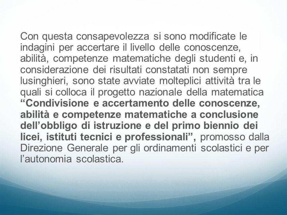 Gli obiettivi Lo scopo del progetto è stato il miglioramento dellinsegnamento/apprendimento della matematica nella scuola italiana attraverso lattivazione di una riflessione collettiva e generalizzata su aspetti e parti dellinsegnamento su cui i docenti sono normalmente e quotidianamente impegnati.
