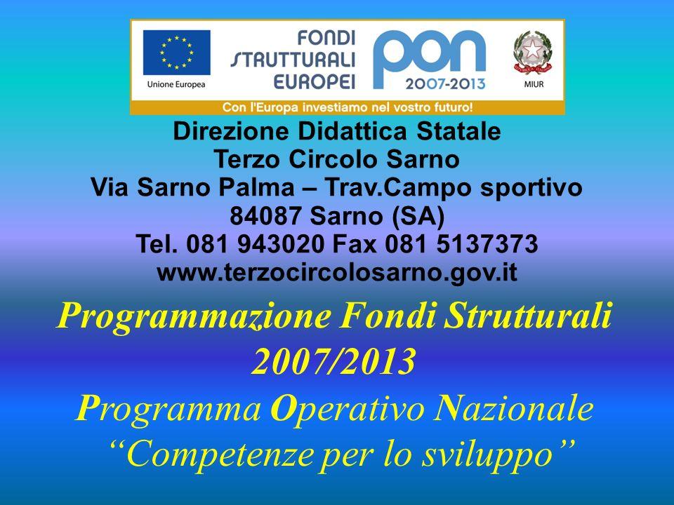 Direzione Didattica Statale Terzo Circolo Sarno Via Sarno Palma – Trav.Campo sportivo 84087 Sarno (SA) Tel.