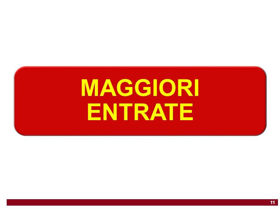 MAGGIORI ENTRATE 11