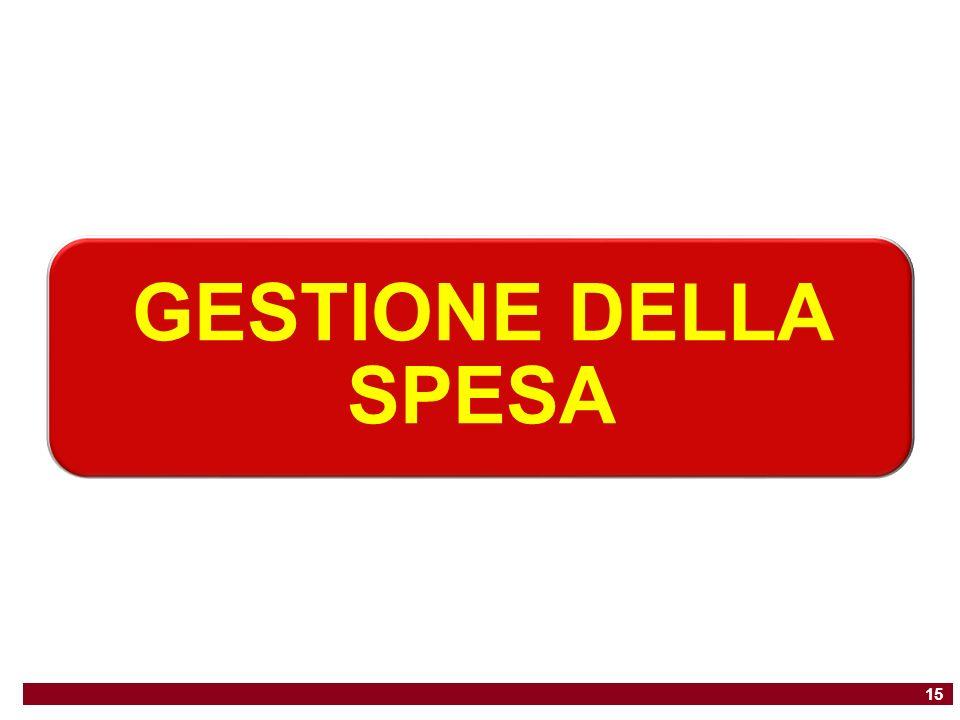 GESTIONE DELLA SPESA 15