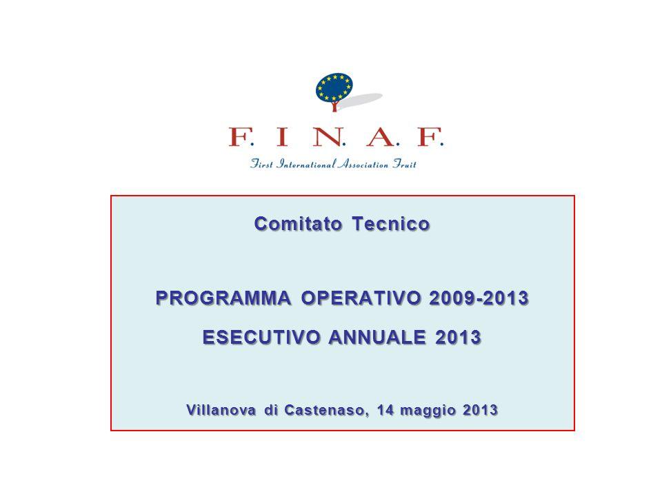 3° anticipo: Entro il 30.09.2013 FINAF presenta la domanda di anticipo alla RER per il secondo quadrimestre del Programma Operativo.