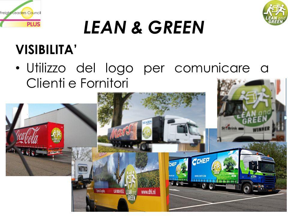 LEAN & GREEN VISIBILITA Utilizzo del logo per comunicare a Clienti e Fornitori