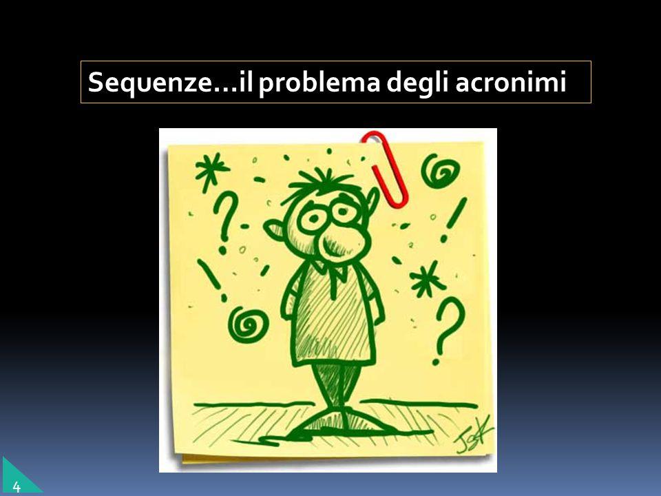 Sequenze…il problema degli acronimi 4