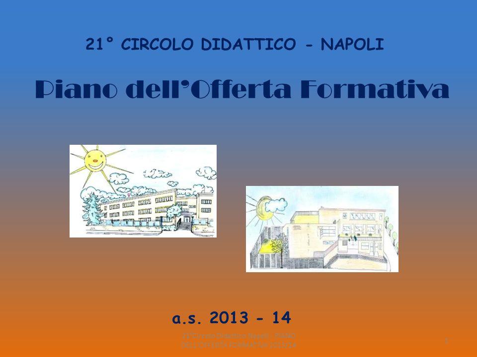 21°Circolo Didattico Napoli - PIANO DELL OFFERTA FORMATIVA 2013/14 22 DSGA ROSARIA DANIELE COLLABORATORI SCOLASTICI SEDE PIO XII PIANO TERRA G.