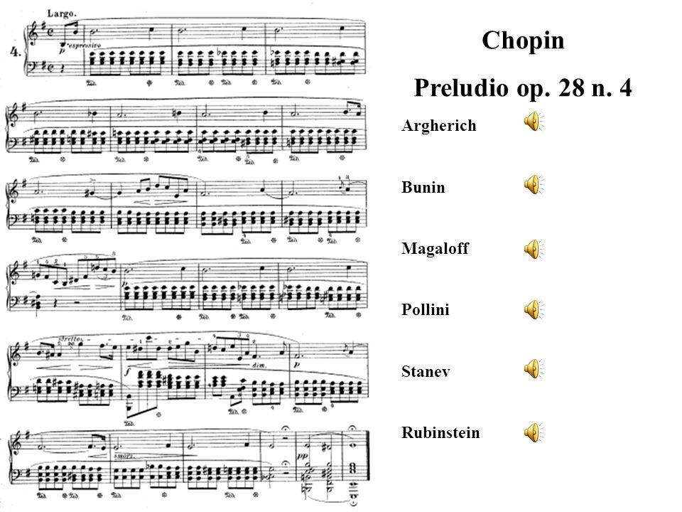 Chopin Preludio op. 28 n. 4 Argherich Bunin Magaloff Pollini Stanev Rubinstein